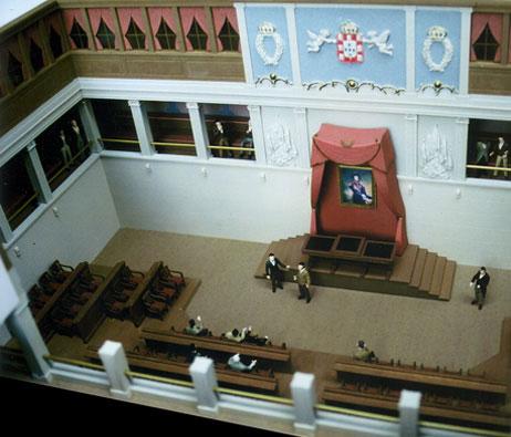 Maquetas: Assembleia da República - Salas. Lisboa. (figura 4)