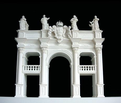 Maquetas: Arcos barrocos. Fundação Ricardo Espírito Santo Silva. Lisboa. (figura 1)