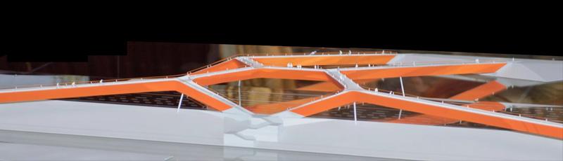 Maquetas: Ponte pedonal e ciclável sobre a 2ª circular, Lisboa (figura 1)