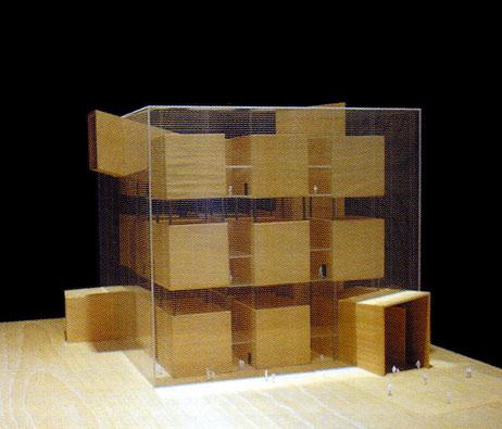 Maquetas: Museu temporário de arte contemporânea. Paris, França (figura 1)