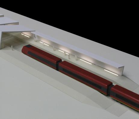 Maquetas: Cobertura de plataforma ferroviária I, Luanda, Angola (figura 1)
