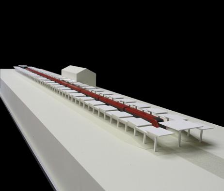 Maquetas: Cobertura de plataforma ferroviária II, Luanda, Angola (figura 1)