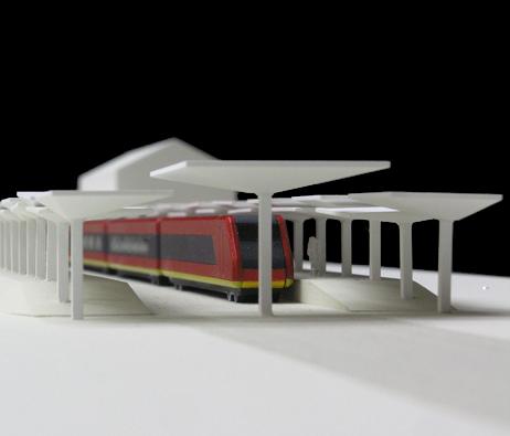 Maquetas: Cobertura de plataforma ferroviária II, Luanda, Angola (figura 2)
