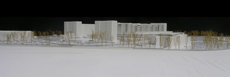 Maquetas: Hospital de Santa Maria - Proposta para o novo edifício Cid dos Santos, Lisboa (figura 1)