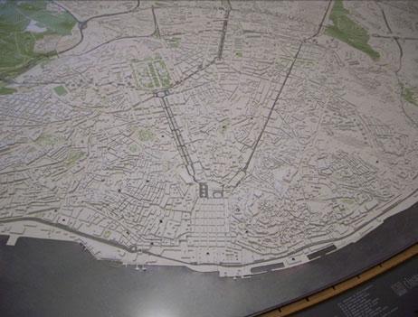 Maquetas: Plano urbanístico da cidade de Lisboa (figura 1)