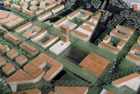 Maquetas: Projecto urbano Romanina. Roma, Itália (figura 1)