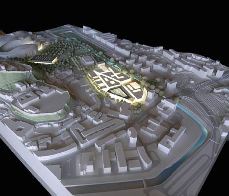 Maquetas: Centro comercial, pavilhão multiusos e arranjo paisagístico. Leiria (figura 1)