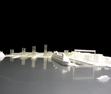 Maquetas: Centro comercial, pavilhão multiusos e arranjo paisagístico. Margueira, Almada (figura 1)