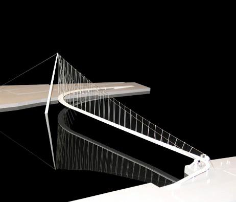 Maquetas: Ponte pedonal sobre o Rio Douro. Porto. Vila Nova de Gaia. (figura 1)